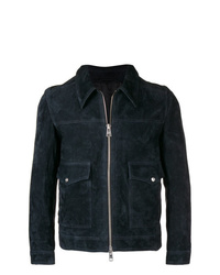 Chaqueta estilo camisa de ante azul marino de AMI Alexandre Mattiussi