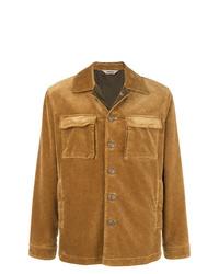 Chaqueta estilo camisa de ante marrón claro de Aspesi