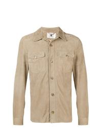 Chaqueta estilo camisa de ante marrón claro de Kired