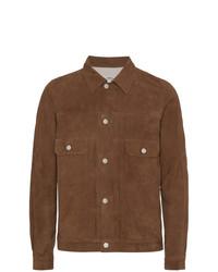 Chaqueta estilo camisa de ante marrón de VISVIM