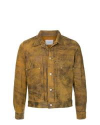 Chaqueta estilo camisa de cuero marrón de The Letters