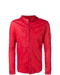 Chaqueta estilo camisa de cuero roja de Giorgio Brato