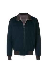 Chaqueta estilo camisa de lana azul marino de Barba