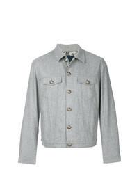 Chaqueta estilo camisa de lana gris