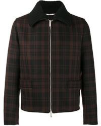 Chaqueta estilo camisa de lana negra
