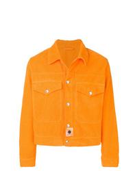 Chaqueta estilo camisa de pana naranja