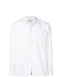 Chaqueta estilo camisa de rayas verticales blanca de Marni