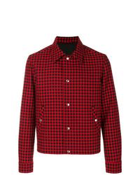 Chaqueta estilo camisa de tartán roja de AMI Alexandre Mattiussi