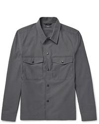 Chaqueta estilo camisa en gris oscuro