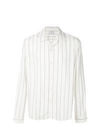 Chaqueta estilo camisa estampada blanca de AMI Alexandre Mattiussi