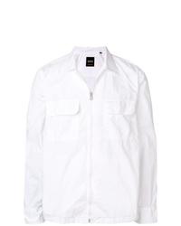 Chaqueta estilo camisa ligera blanca de BOSS HUGO BOSS