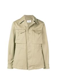 Chaqueta estilo camisa ligera en beige de Maison Margiela