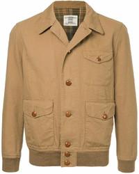 Chaqueta estilo camisa marrón claro