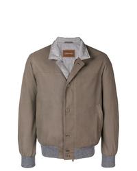Chaqueta estilo camisa marrón de Doriani Cashmere