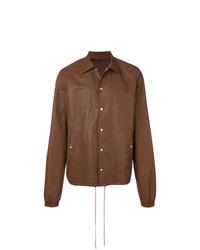 Chaqueta estilo camisa marrón de Rick Owens