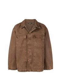 Chaqueta estilo camisa marrón de Yeezy