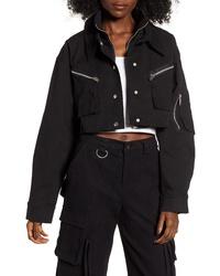 Chaqueta estilo camisa negra