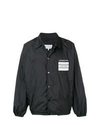 Chaqueta estilo camisa negra de Maison Margiela