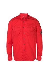 Chaqueta estilo camisa roja