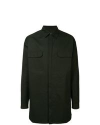 Chaqueta estilo camisa verde oscuro de Rick Owens