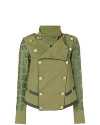 Chaqueta militar con adornos verde oliva de Mr & Mrs Italy