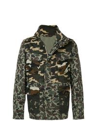 Chaqueta militar de camuflaje verde oscuro de PS Paul Smith