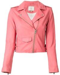 f75dd5a17a2 Comprar una chaqueta motera de cuero rosa: elegir chaquetas moteras ...