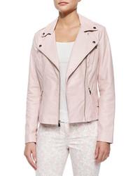 e28f90d1d29 Comprar una chaqueta motera de cuero rosada Neiman Marcus | Moda ...