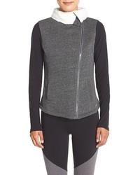 Chaqueta motera de lana gris de Alo