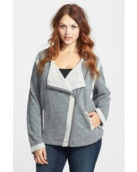Chaqueta motera de lana gris de Sejour