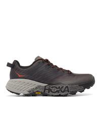 Hoka One One Black Speedgoat 4 Sneakers