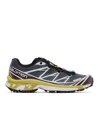 Salomon Grey And Purple Limited Edition Xt 6 Adv Sneakers