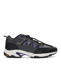 Ps By Paul Smith Grey And Purple Roscoe Sneakers