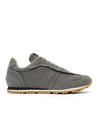 Maison Margiela Grey Canvas Runner Sneakers