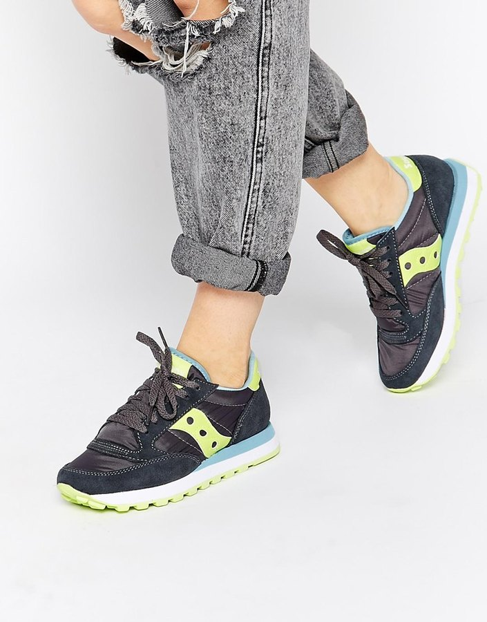 reputable site 522e3 f0e69 $109, Saucony Jazz Original Charcoallight Green Sneakers