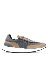Z Zegna Knit Panelled Sneakers