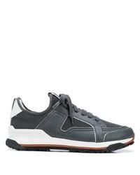 Ermenegildo Zegna Leather Trimmed Low Top Mesh Trainers