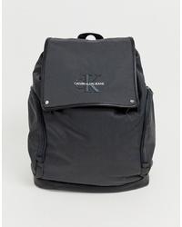 Calvin Klein Jeans Monogram Logo Backpack In Grey