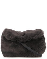 Tartine et Chocolat Faux Fur Shoulder Bag
