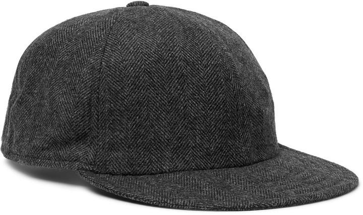 6a8cdfab84d Borsalino Herringbone Virgin Wool Blend Baseball Cap