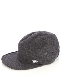 MAISON KITSUNÉ Logo Embroidered Wool Blend Baseball Cap