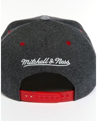 5ed02961b54296 Mitchell & Ness Perforated Suede Detroit Red Wings Snapback Cap, $49 ...