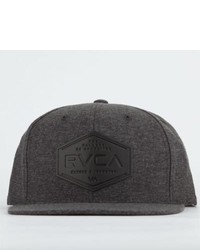 RVCA Sonny Snapback Hat Charcoal One Size For 201735110