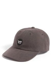 Brixton Wheeler Baseball Cap Grey