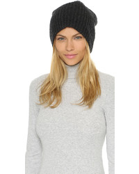 1717 Olive Cashmere Rib Slouch Beanie Hat