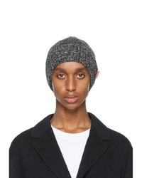 Acne Studios Black And White Ribbed Beanie