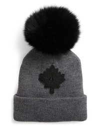 Maple leaf toque hat with removable genuine fox medium 8719856