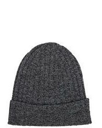 Barneys New York Rib Knit Beanie Black
