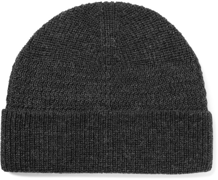 f9ce268f028 ... Charcoal Beanies Lanvin Ribbed Merino Wool Beanie ...