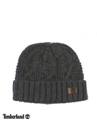 Timberland Chunky Cable Beanie Charcoal Heather